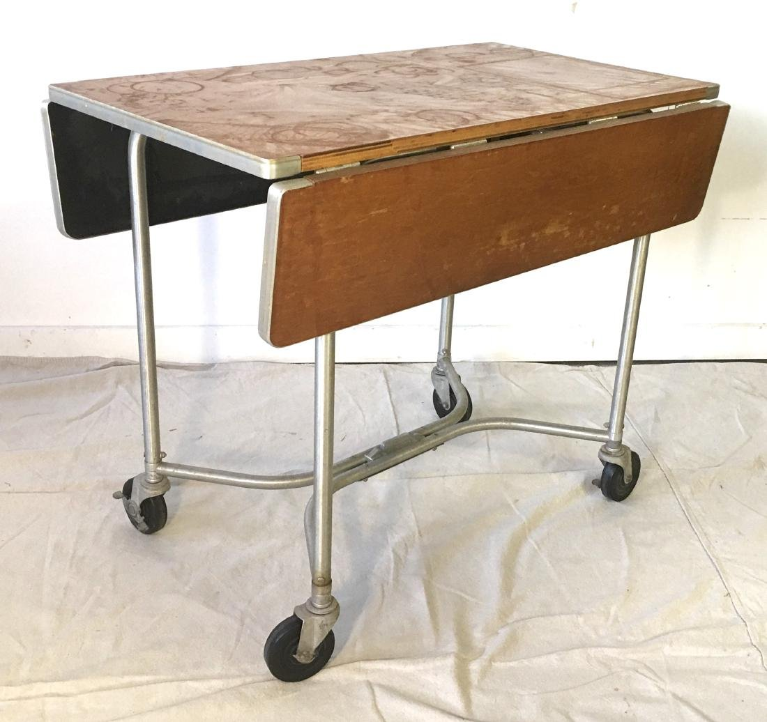 Warren MacArthur Rolling Drop Leaf Table