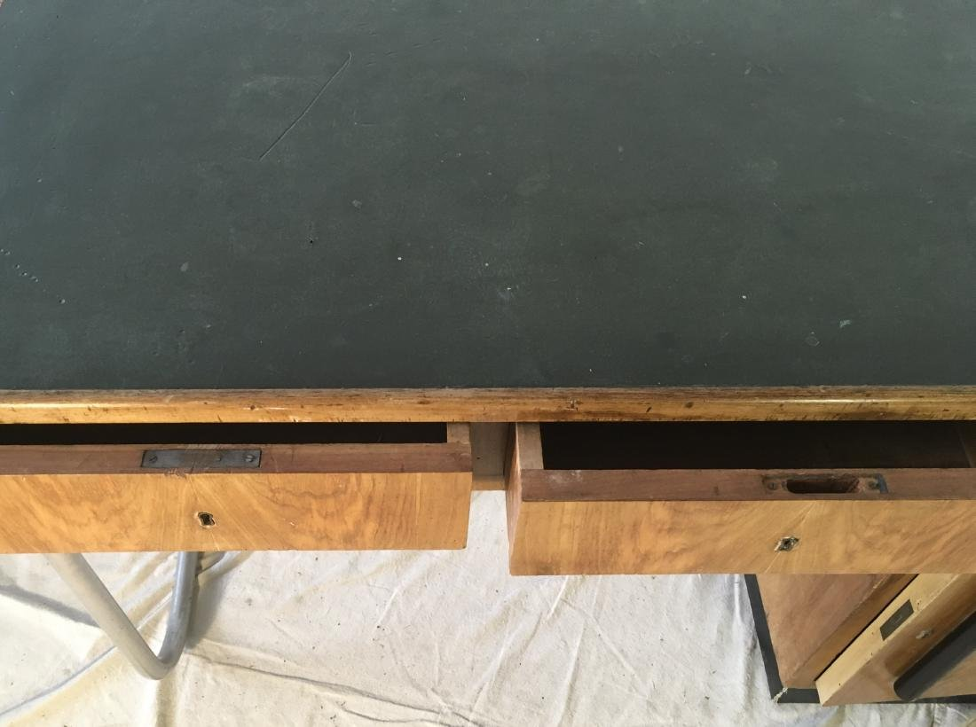 Modernist Italian Desk with Leather Top - 5