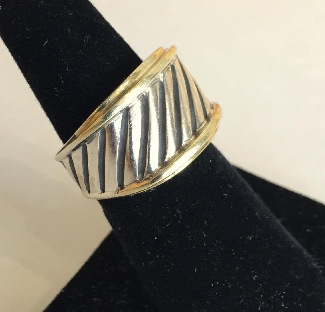 Authentic David Yurman 14k Gold and Sterling Cable Ring