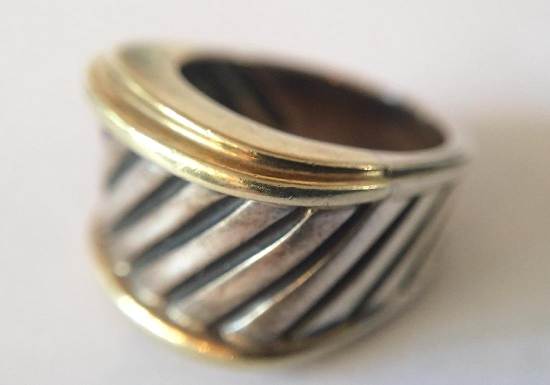 Authentic David Yurman 14k Gold and Sterling Cable Ring - 4