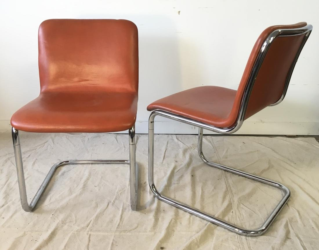 Set of Four Harvey Probber Chrome Chairs - 5