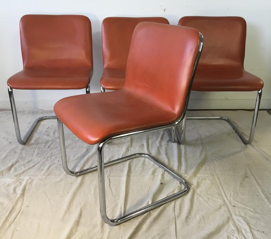 Set of Four Harvey Probber Chrome Chairs - 6