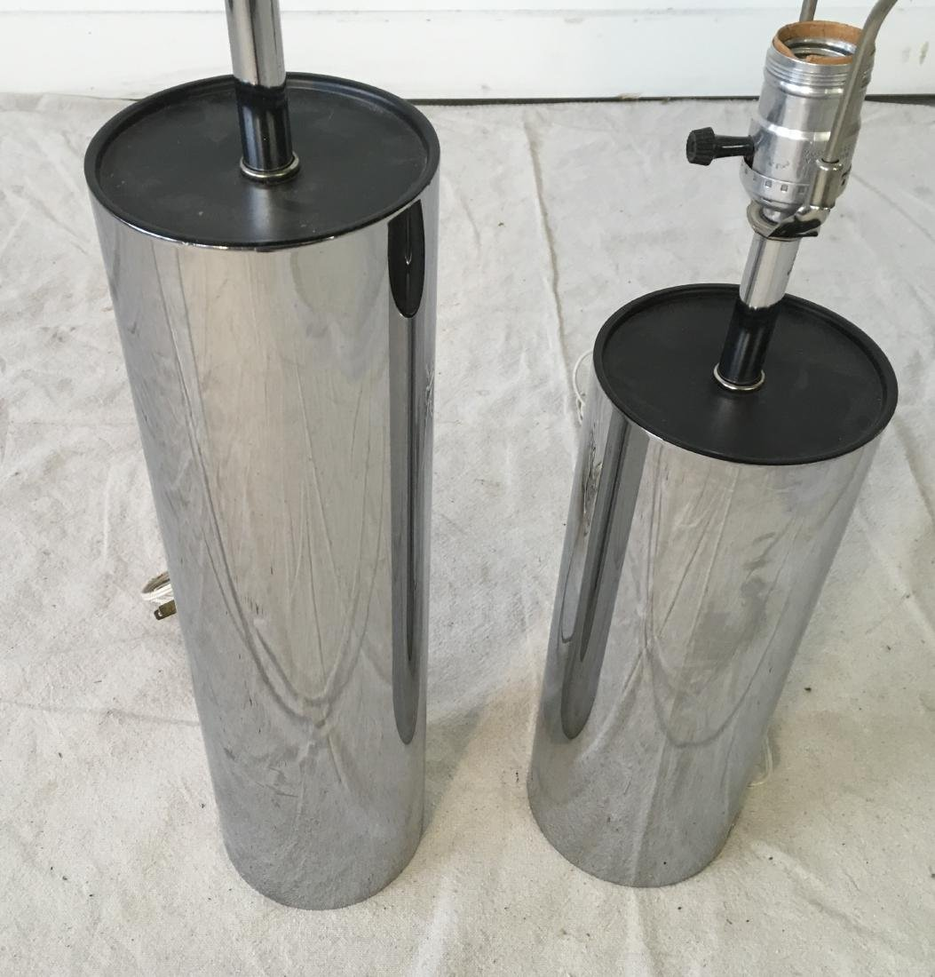 Two Chrome Cylinder Lamps - 2