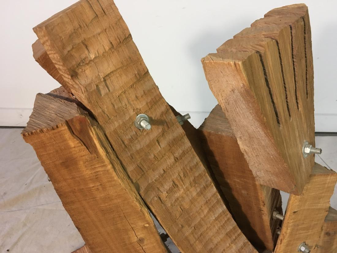 Brutalist Wooden Sculpture by Leonard Cave - 3