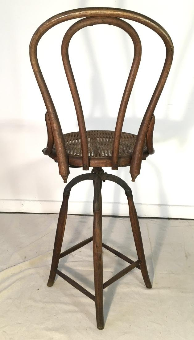 Antique Bentwood Tall Stool - 4