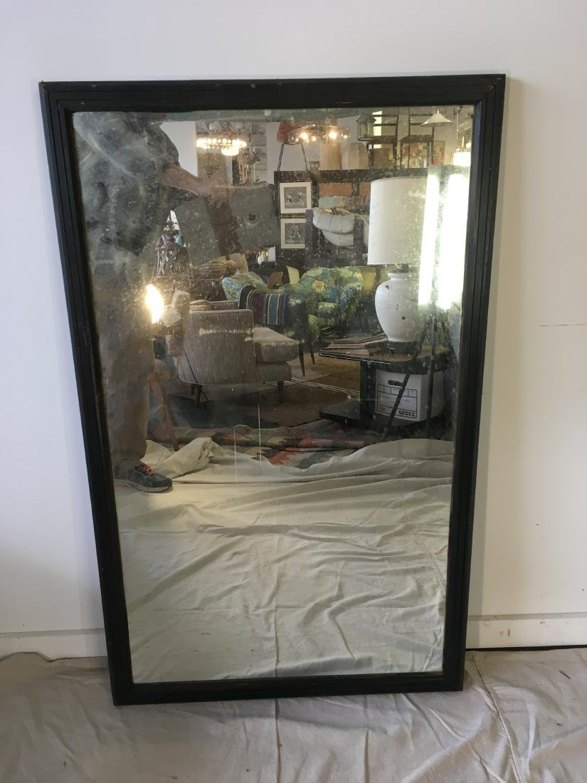 Large Wall Mirror in Black Paint