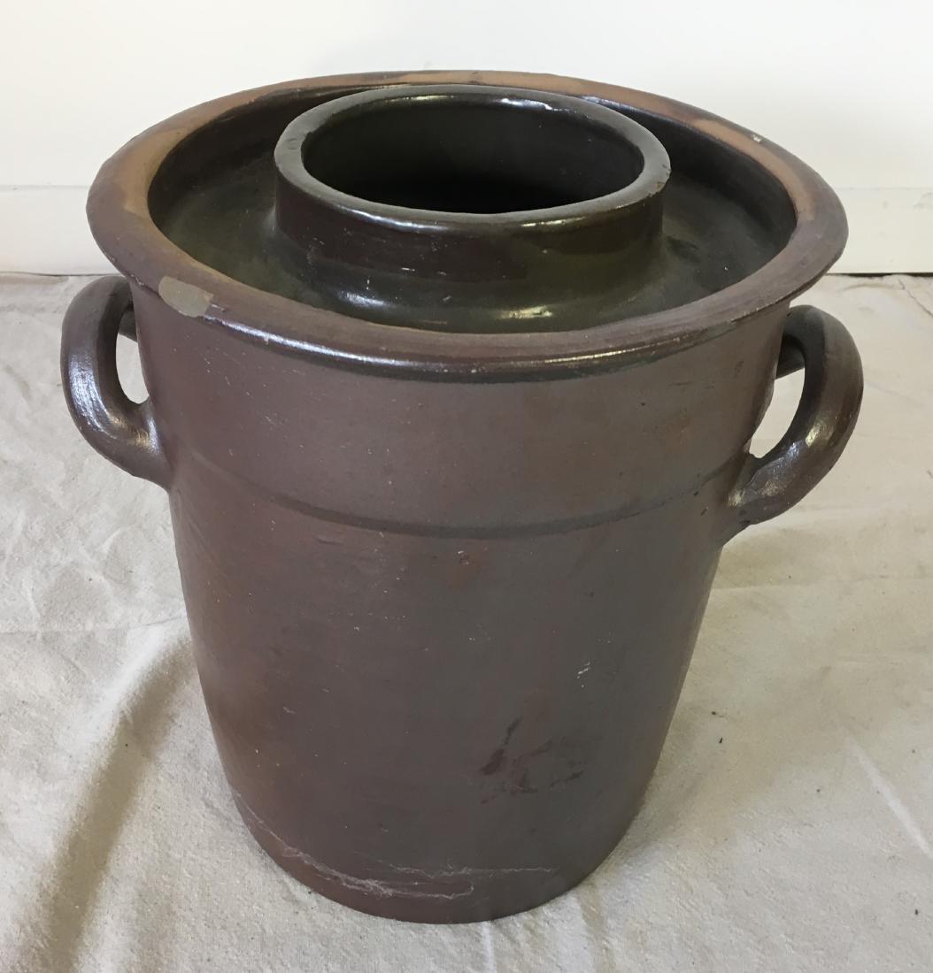 Dutch Stoneware Pot with Handles - 3