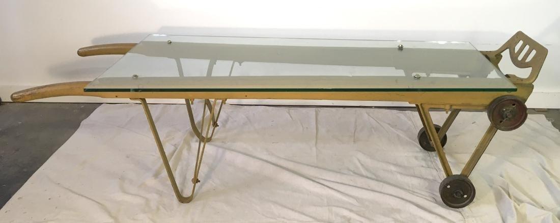 Antique Bradley & Hubbard Industrial Cart Coffee Table