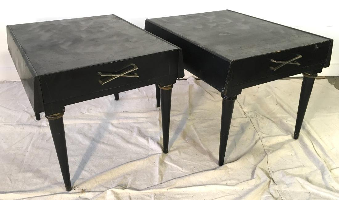 Pair American of Martinsville Painted End Tables