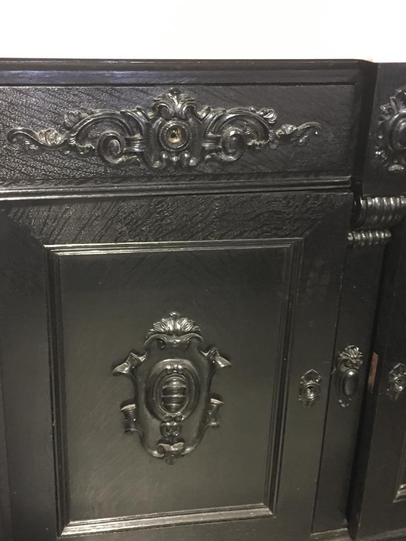 Ebonized Oak Marble Top Server - 6