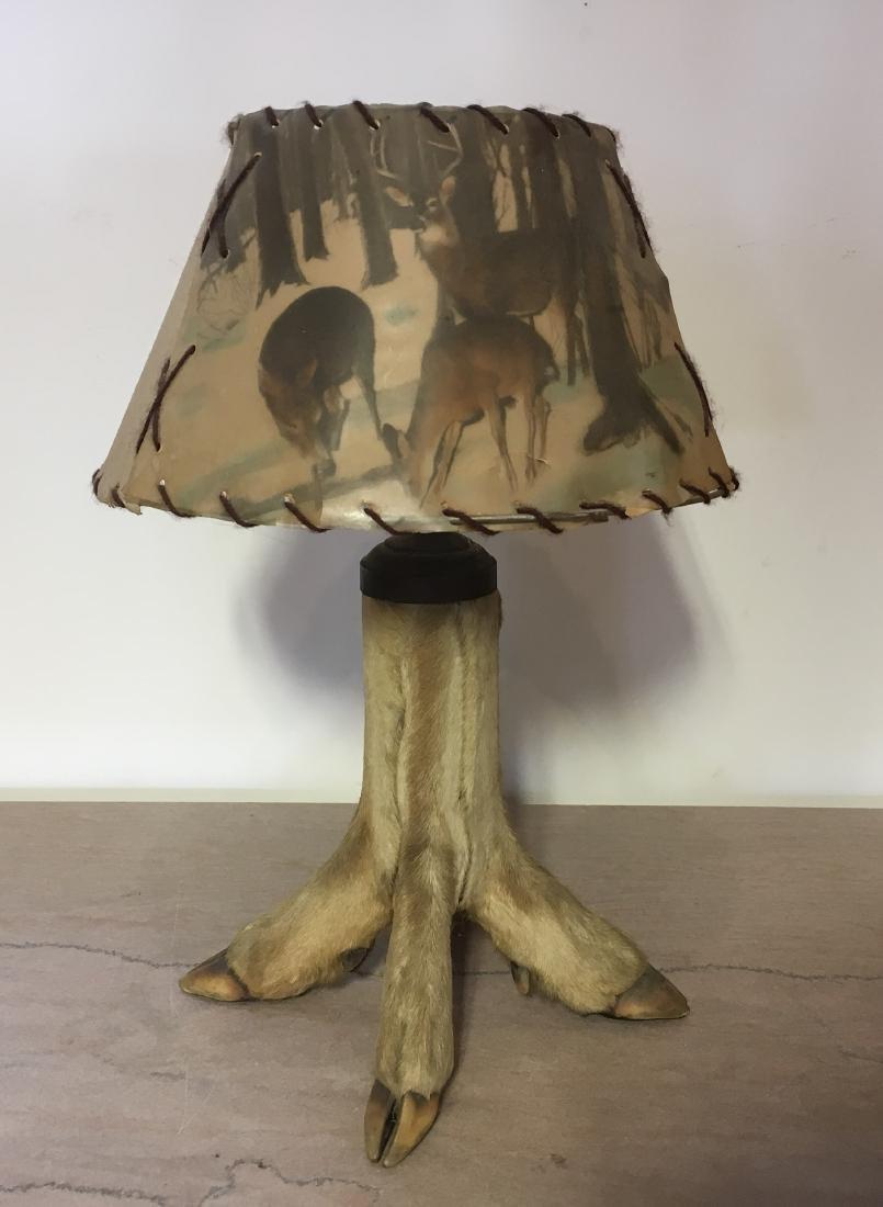 Antique Hoof Lamp