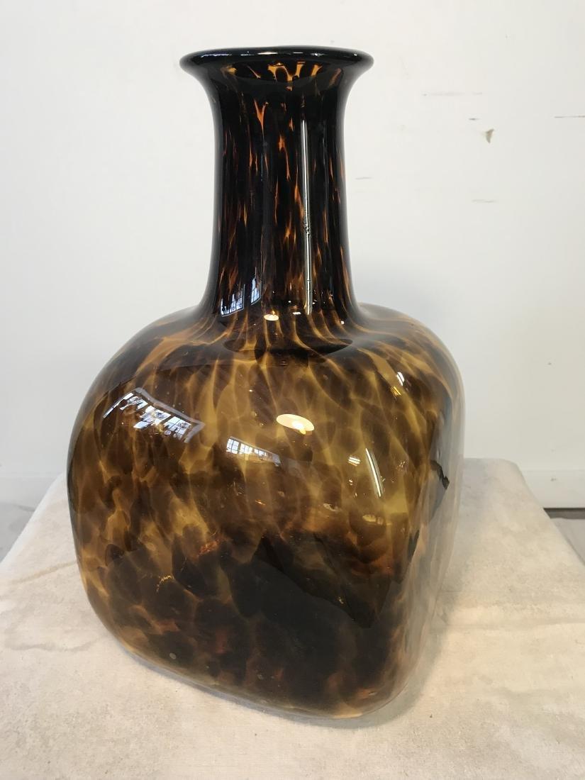 Large Vintage Tortoise Glass Vase - 2