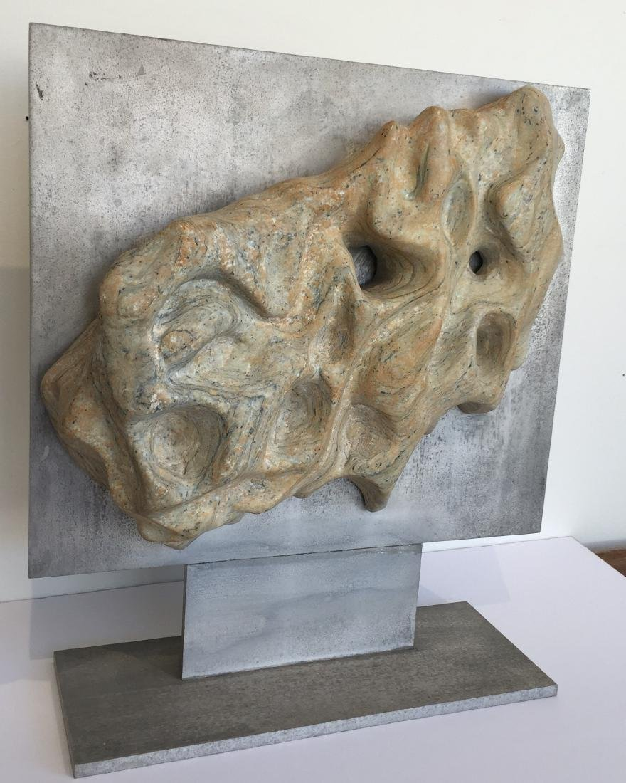 Riverstone Sculpture on Steel Dated 1970 - 2