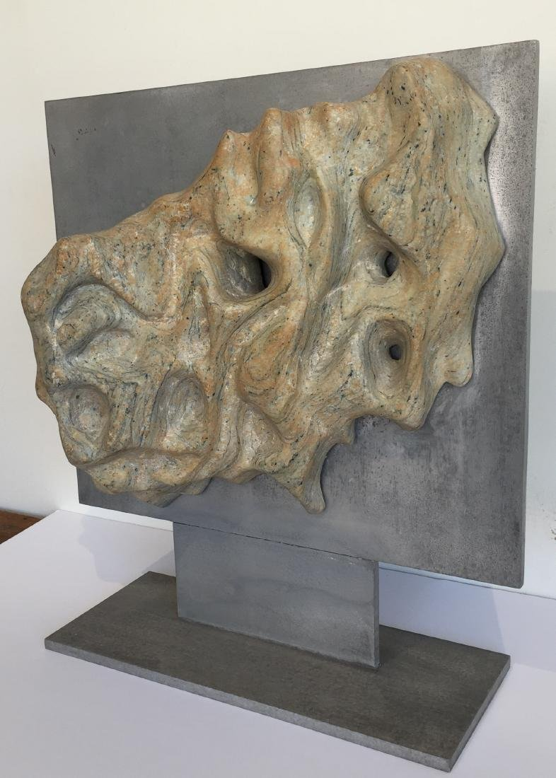 Riverstone Sculpture on Steel Dated 1970 - 3
