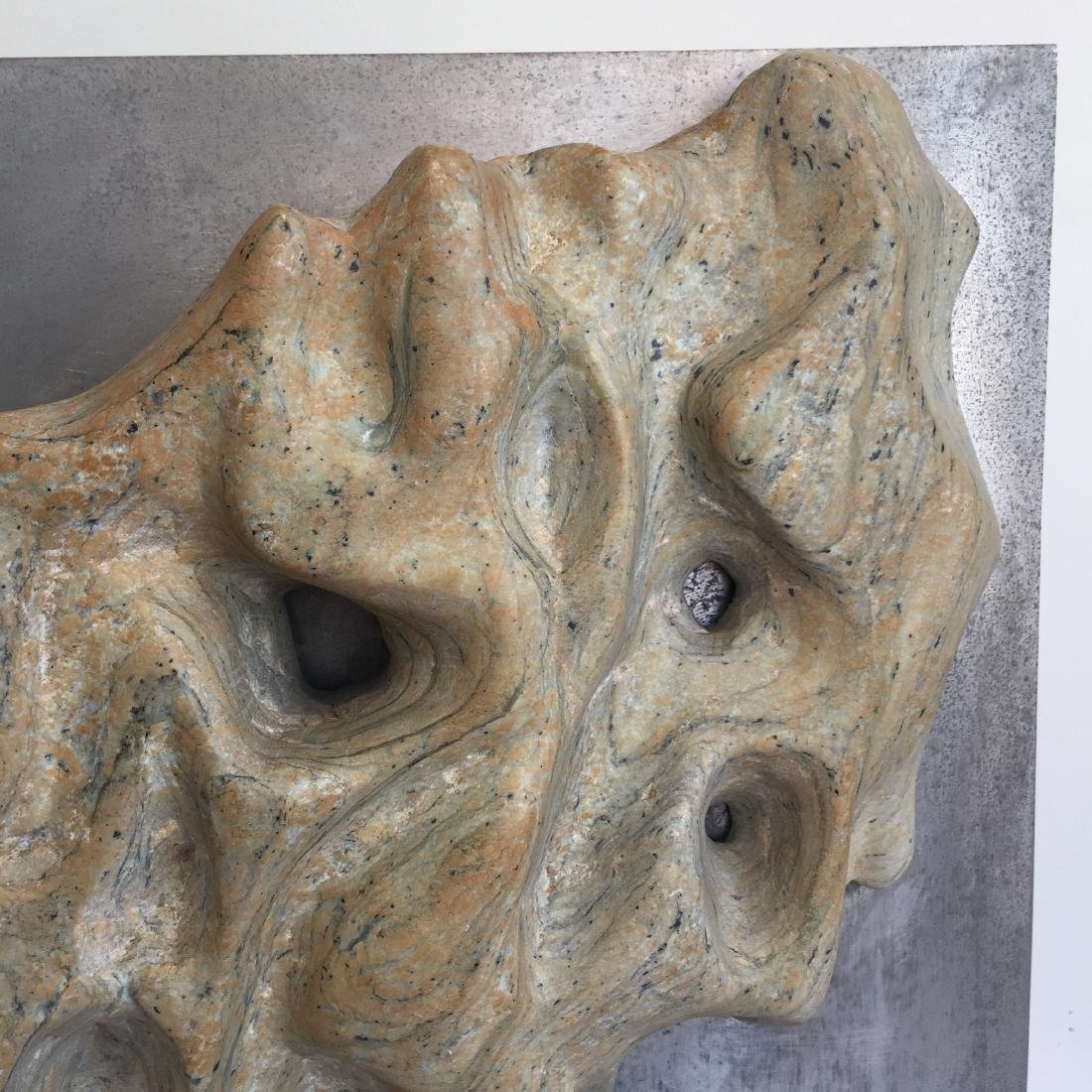 Riverstone Sculpture on Steel Dated 1970 - 6