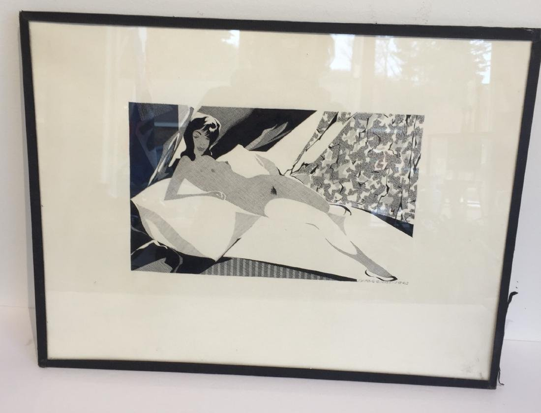 Nude in Pen and Ink dated 1962