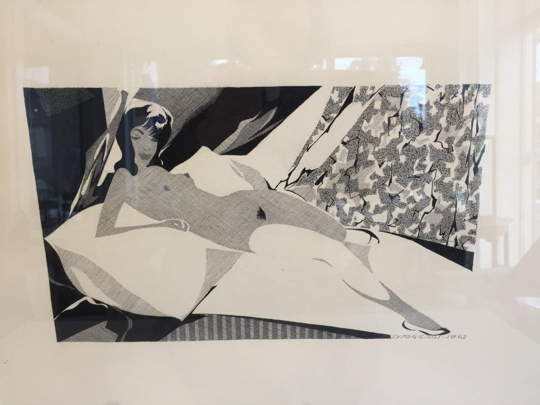 Nude in Pen and Ink dated 1962 - 5
