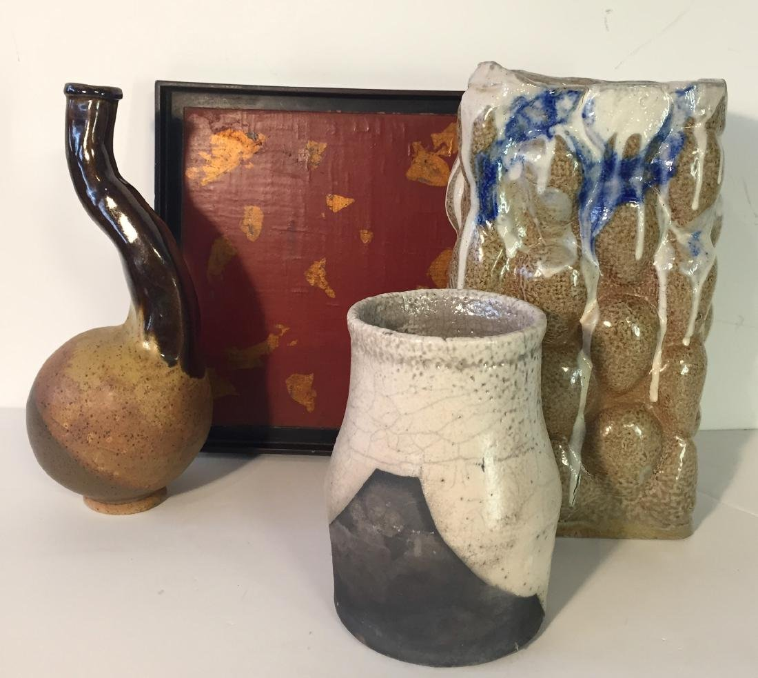 Studio Pottery and Lacquer Tray