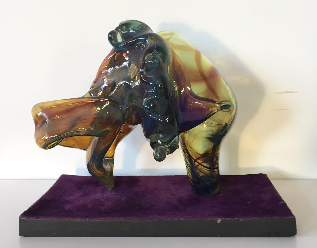 Biomorphic Blown Glass Sculpture