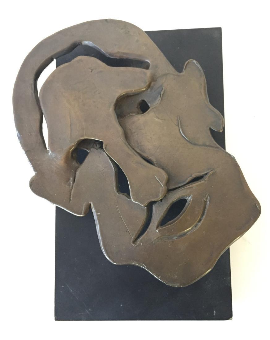 Bronze Face Sculpture signed Friedberg '79