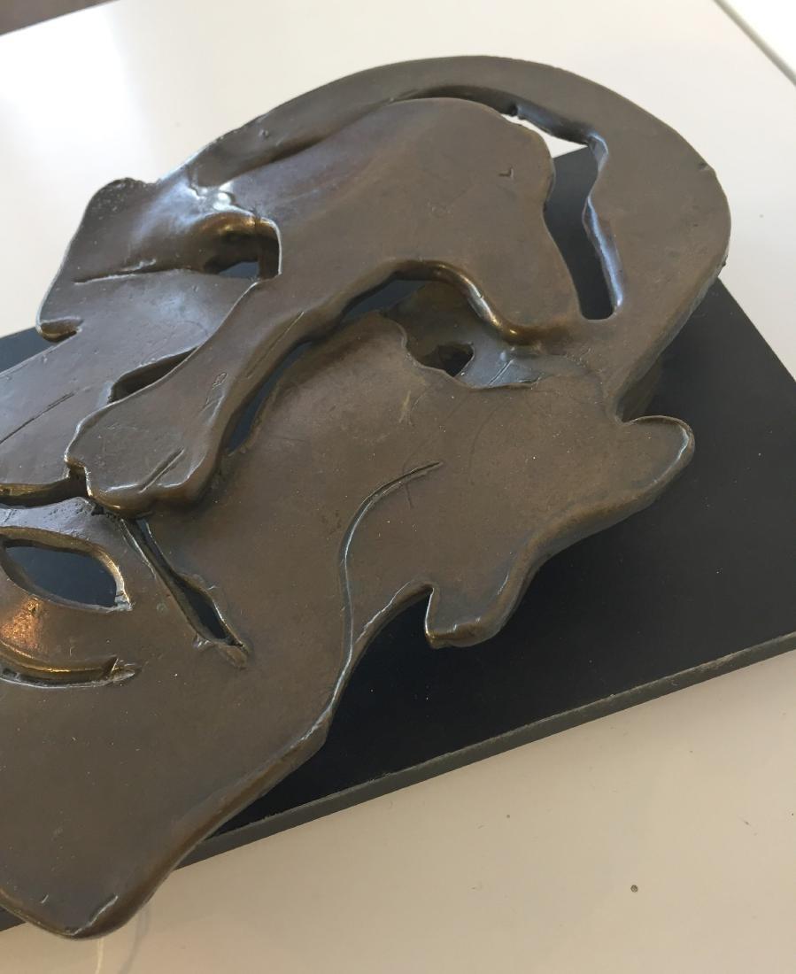 Bronze Face Sculpture signed Friedberg '79 - 3