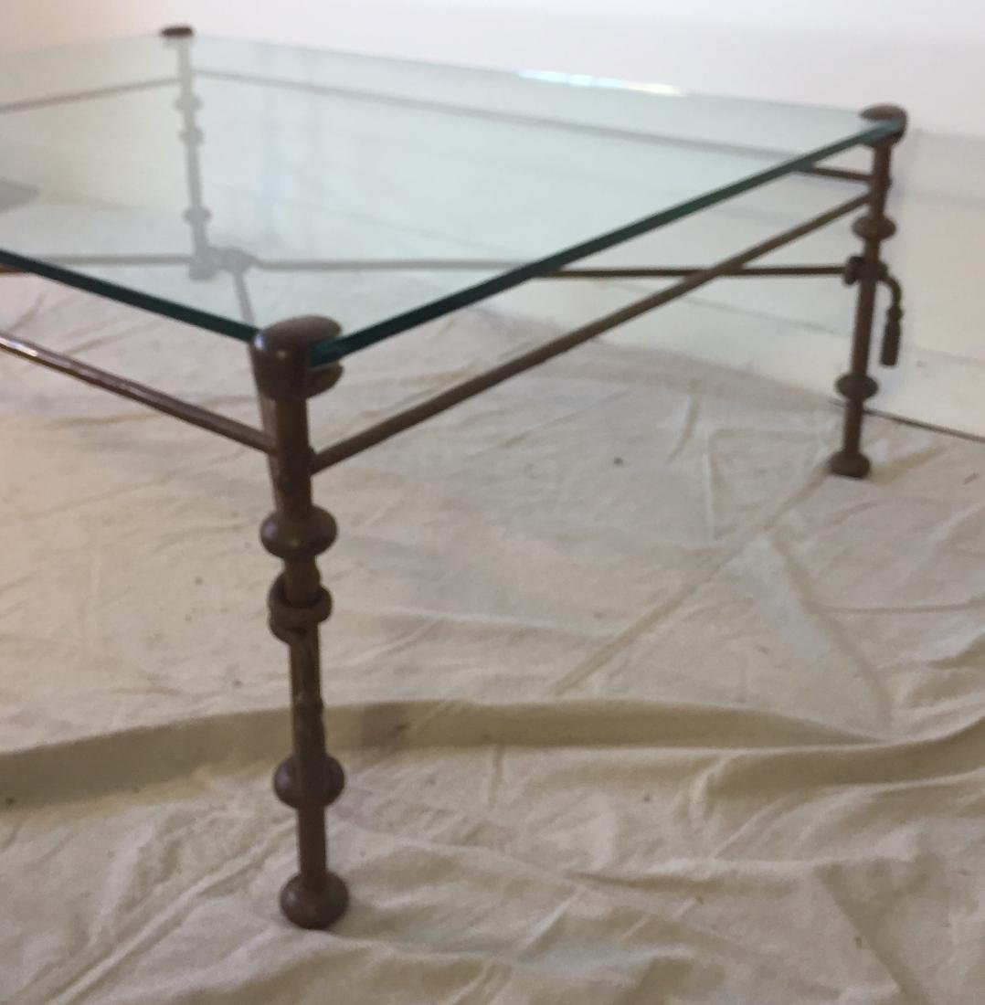 Iron and Glass Coffee Table - 3