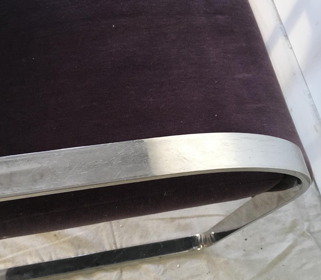 Pair Brueton Chrome Chairs in Mohair - 3