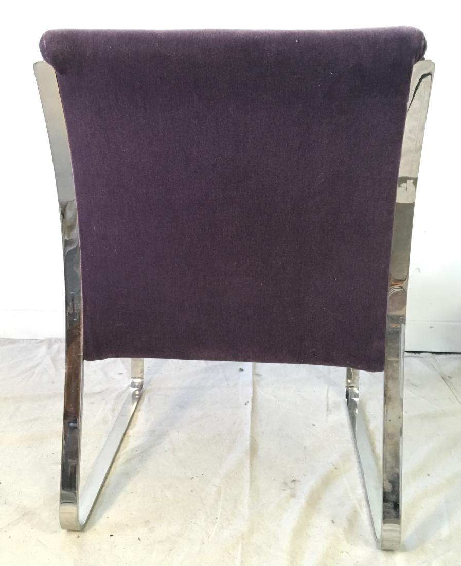 Pair Brueton Chrome Chairs in Mohair - 4