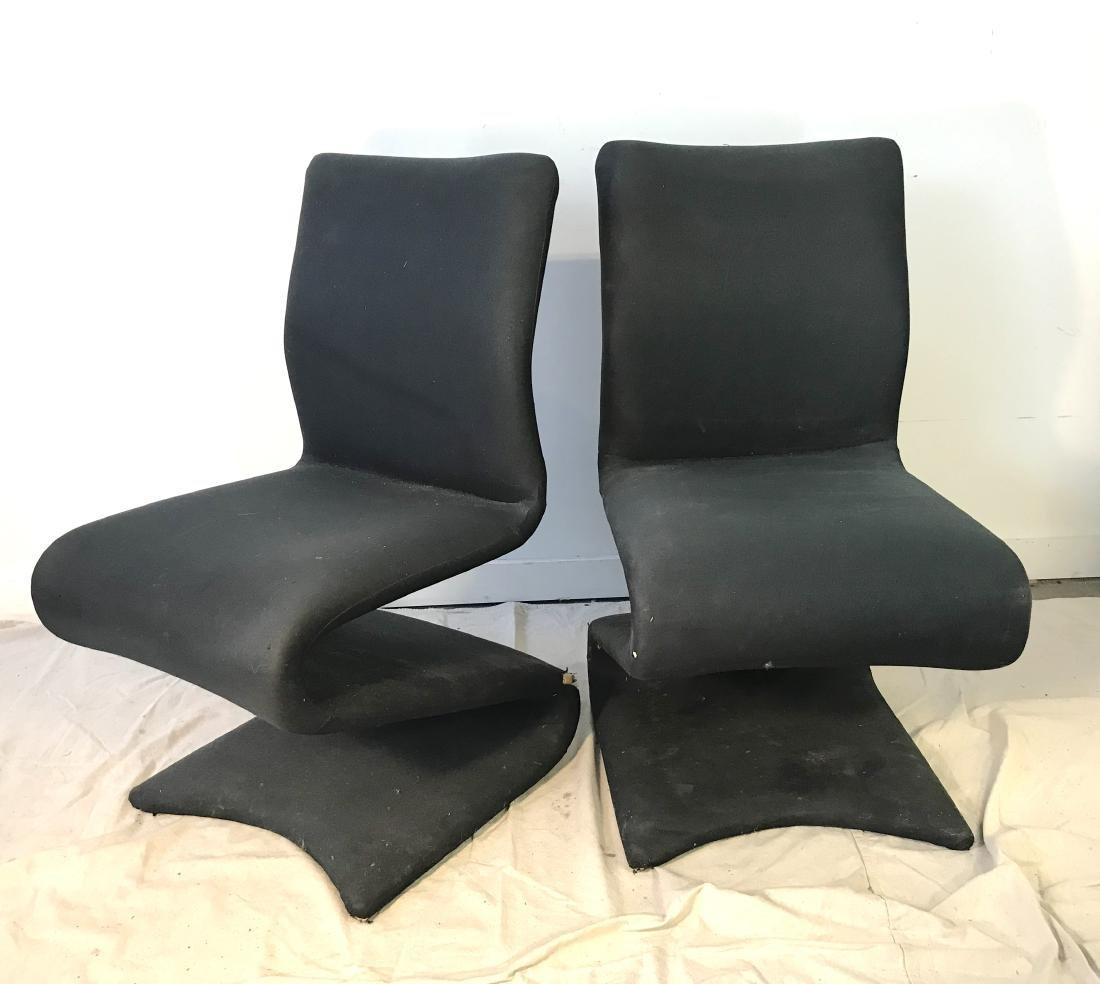 Pair Panton Style Z Chairs