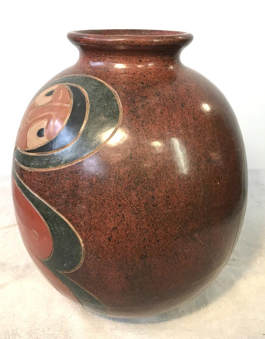 Nicaraguan Vase Signed by Artist - 2