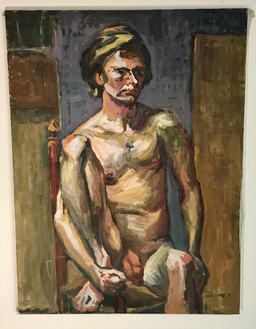 Lois Foley Whitcomb Oil Painting Male Nude