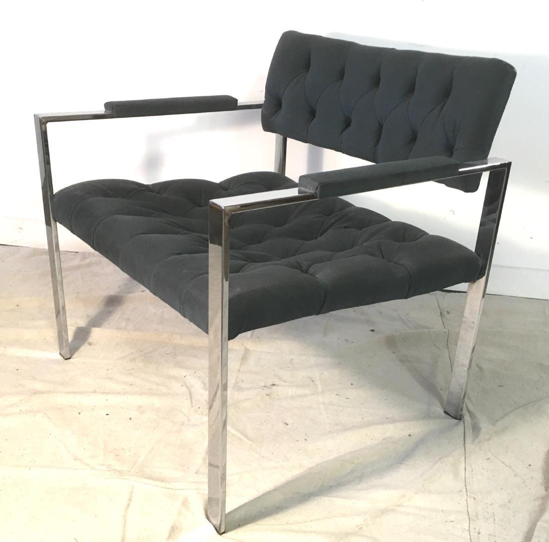 Probber Flat Bar Chrome Armchair