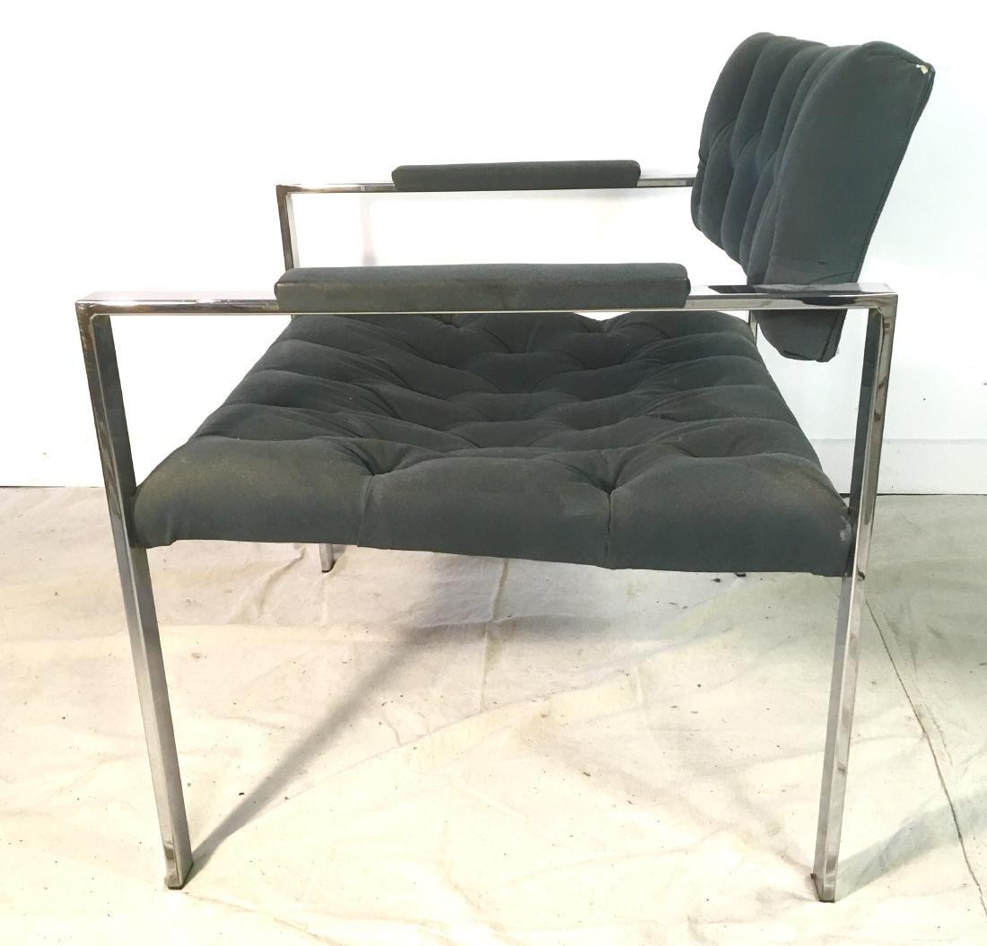 Probber Flat Bar Chrome Armchair - 2