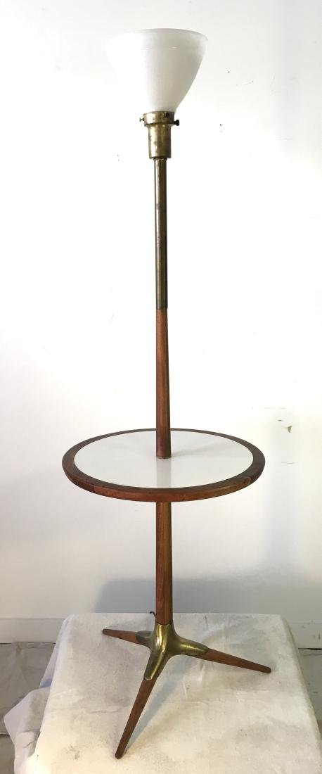 Tony Paul Style Lamp Table in Walnut and Brass
