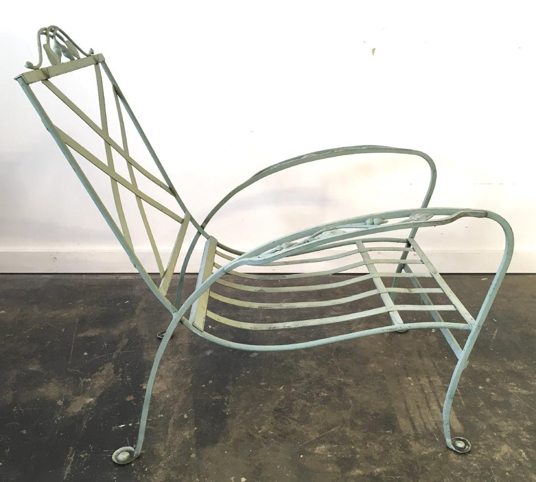Salterini Iron Chair and Stone Top Table - 3