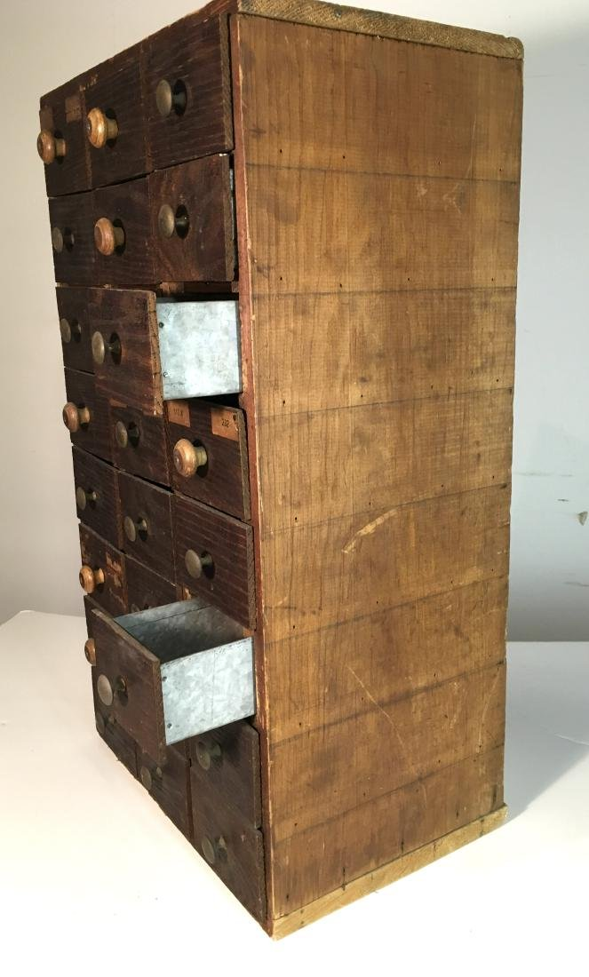 Primitive Hardware or Apothecary Cabinet - 3