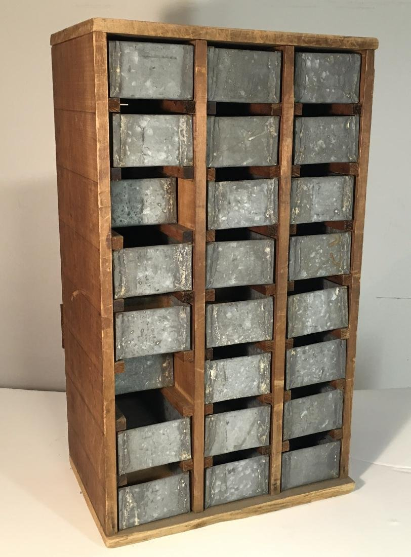 Primitive Hardware or Apothecary Cabinet - 4