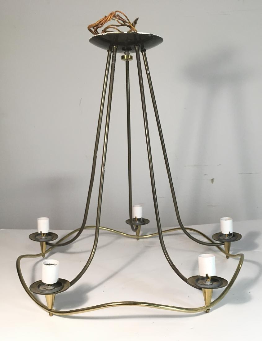 Mid Century Modern Brass Thurston Chandelier