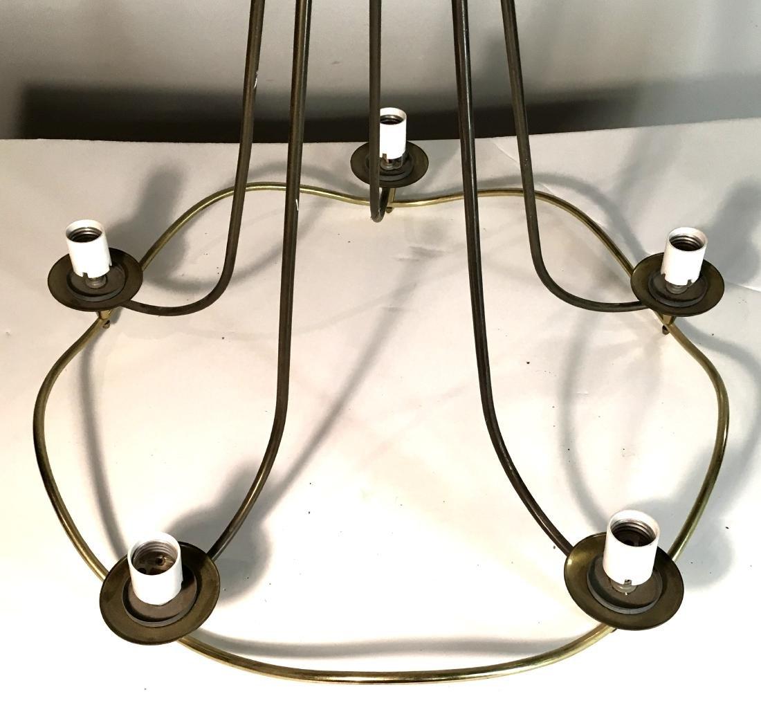 Mid Century Modern Brass Thurston Chandelier - 2