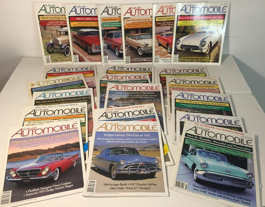 Collectible Automobile Magazines Lot of 21