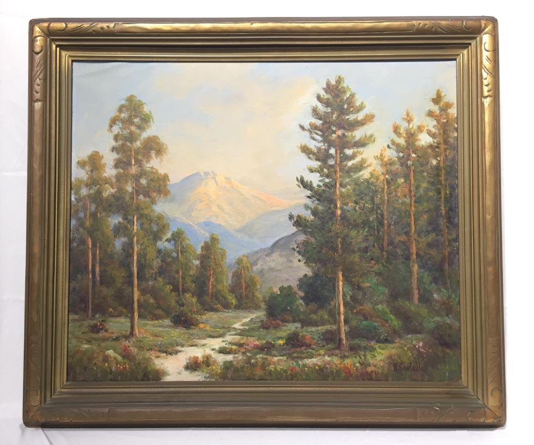 Herbert Sartelle Painting, California Impressionist