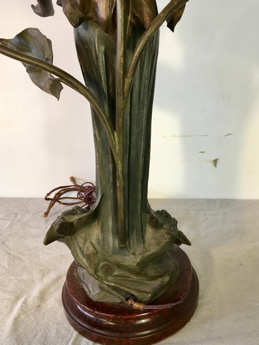 Antique French Art Nouveau Figural Lamp - 4