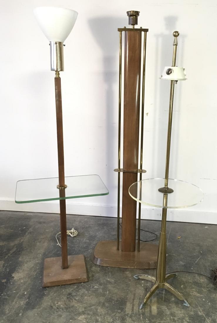 Lot of 3 Vintage Floor Lamps