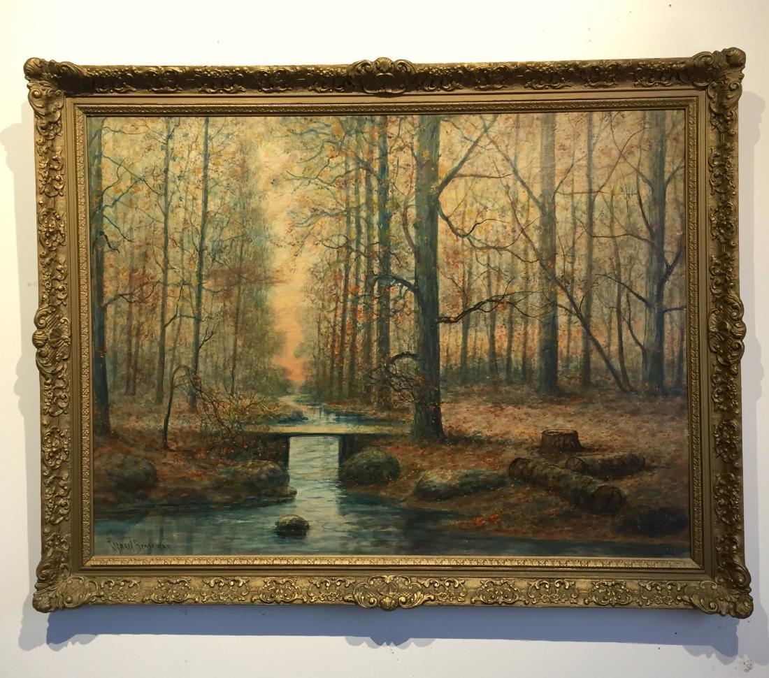 Painting in frame by Raphael Senseman NJ