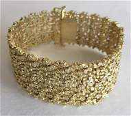 14K Gold Mid-Century Brutalist Bracelet