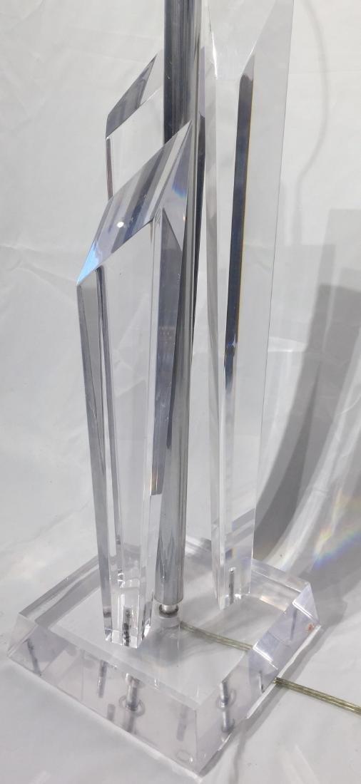 Mid Century Lucite Lamp - 2