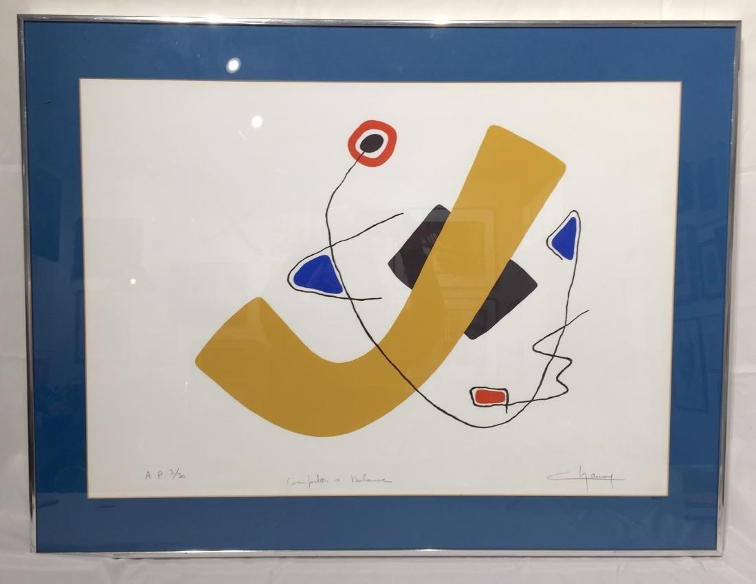 Lionel Chauve Print in Frame