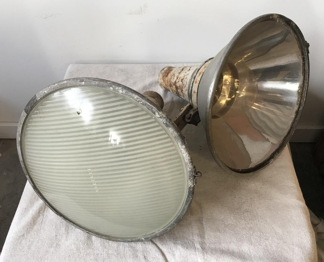 Two 1940s Industrial Lights