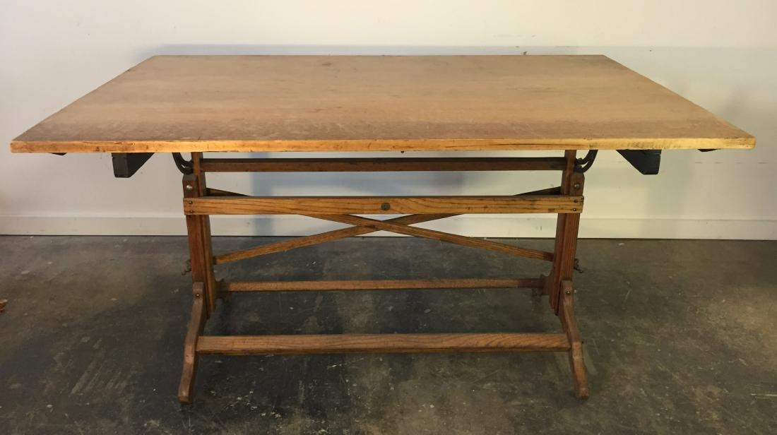 Large Vintage Drafting Table