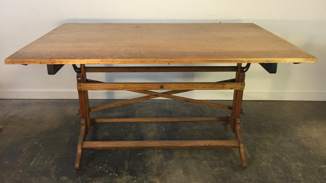 Large Vintage Drafting Table